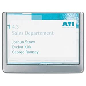 Durable Click Sign Holders For Interior Walls, 6.75 x 0.625 x 5.125 Inches, Graphite (4861-37)