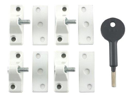 Yale Locks 8K118 Economy Window Lock Electo Brass Finish Pack 4 Visi Pack