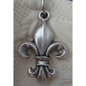 Sa170as fleur de lis shower curtain hook add on antique silver finish 12pcs - Fleur de lis shower curtains ...
