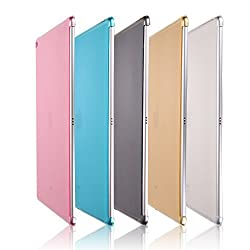 iPad Pro Case, Dowswin Crystal Clear Scratch-Resistant Full Protect TPU Soft Back Cover Compatible Matte Frosted shell Snap-On Back Soft TPU Cover for iPad Pro 12.9 inches (Pink)