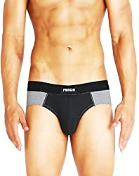 Punch Mens Synthetic Underwear Brief-Black -X-Large