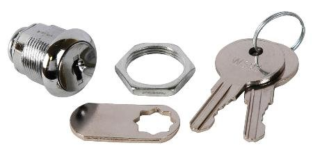 Alarm Controls Universal Camlock Includes Two Keys 1 Inch Steel Cam For Cabinet Panel