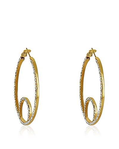 Chicstyle Pendientes «Paenia» Dorado / Transparente