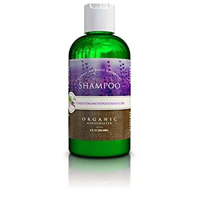 Shampoo, Organic and 100% Natural for All Hair Types (Dry, Oily, Curly or Fine). For Men and Women. Sulfate Free, No Harmful Chemicals. By Christina Moss Naturals.