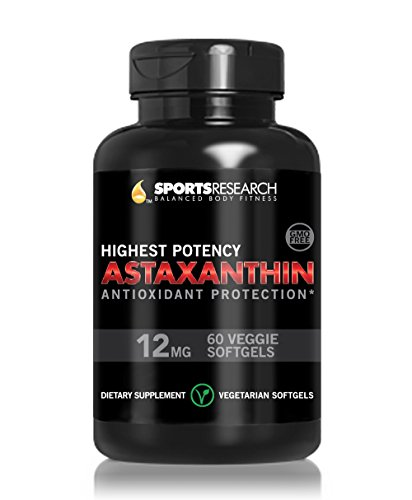 Astaxanthin (Highest Potency) 12Mg Per Veggie Softgel With Organic Coconut Oil For Better Absorption; 1 Capsule A Day Formula; 60 Mini Veggie Softgels; Natures Most Powerful Antioxidant And Carotenoid; Supports Healthy Skin And Sun Protection; Helps Fight