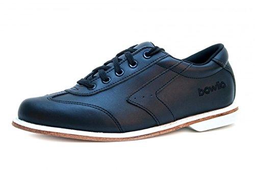 Bowlingschuhe - Bowlio Nero - aus Leder mit Ledersohle, Größe:41;Farbe:Schwarz