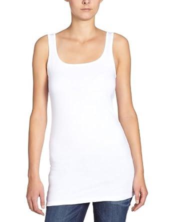 Vero Moda Maxi - Débardeur - Uni - Sans manche - Femme - Blanc (Opt White) -  FR: 34 (Taille fabricant: XS)