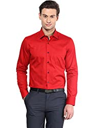 GIVO Red Solid Casual Shirt