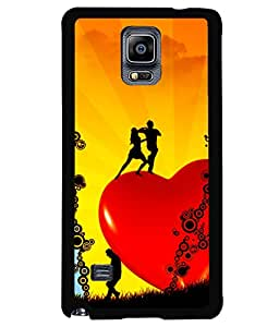 printtech Heart Couple Dance Back Case Cover for Samsung Galaxy Note 4 N910::Samsung Galaxy Note 4 Duos N9100