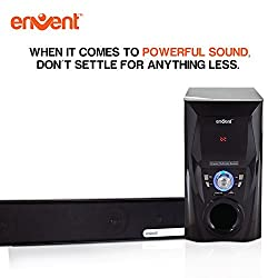 Envent Soundbar Speaker 50W great power with woofer and Bluetooth :Horizon 702BT Truewood Soundbar
