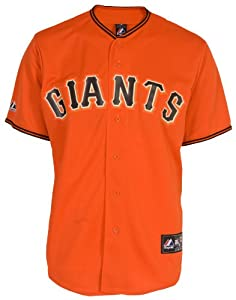 MLB Youth San Francisco Giants Orange Alternate Replica Baseball Jersey by Majestic