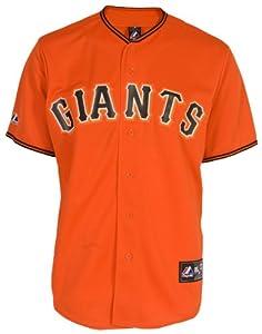 MLB Youth San Francisco Giants Orange Alternate Replica Baseball Jersey by Majestic