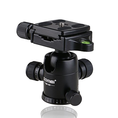 Zomei ZM-03 Aluminum Camera Video Tripod Ball Head Ballhead + Quick Release Plate 1/4