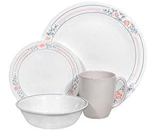 Corelle Contours Spring Pink 16-Piece Dinnerware Set, Service for 4 from World Kitchen (PA)