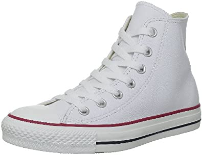 Converse All Star Ct Hi White Leather Trainers - 132169C-UK 3