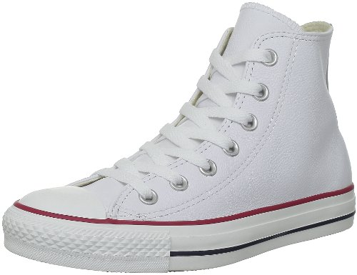 Converse Men's Chuck Taylor Leather High Top Sneaker Optical White 5.5 M
