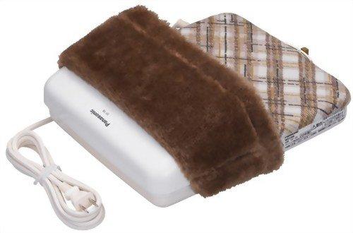 【Amazonの商品情報へ】Panasonic 足温器(ブーツタイプ) ブラウン 格子柄 DF-58-T
