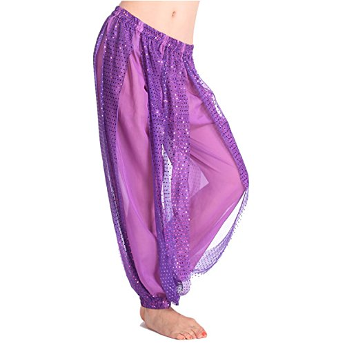 Froomer Women Sequin Shinny Loose Harem Pants Belly Dance Bloomer Trouser 6 Color (Sequin Harem Pants compare prices)