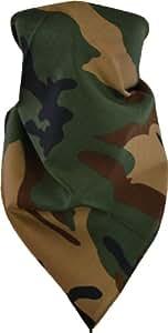 Bandana Kopftuch Halstuch in reiner Baumwolle Farbe Woodland Größe 1 Stück