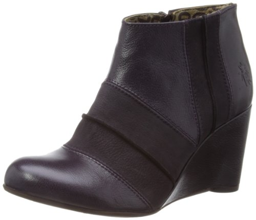 Fly London Womens Gina Deep Purple Clogs P142845001 3 UK, 36 EU