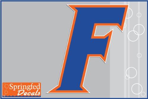 "Florida Gators Block F Logo 4"" Vinyl Decal Car Truck Window Uf Baseball Sticker"