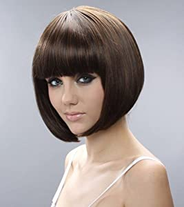 Whatabeautifullife - Short Brown Black Mix Bob Natural As Real Hair Wig+wig Cap