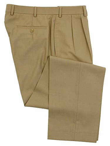 Ralph Lauren Mens Double Pleated Tan Wool Dress Pants - Size 40 x32 (Polo Dress Pants compare prices)