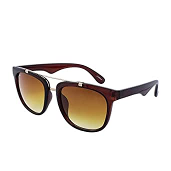 Laurels Uv Protected Wayfarer Unisex Sunglasses -(Brown , Sup-0202)