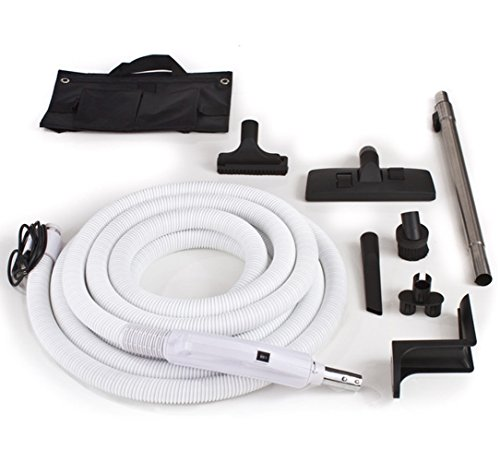 Central Vacuum Hose and Tool Kit Designed to Fit Nearly Any Unit (Central Vacuum Hose With Pigtail compare prices)