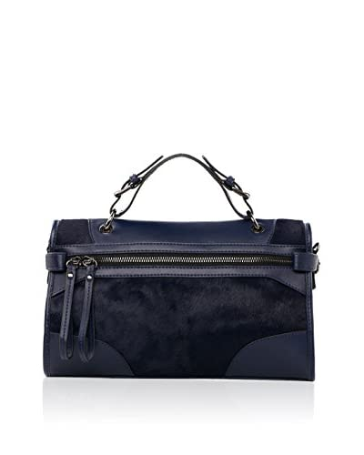 Chancebanda Women's Top Handle Bag, Dark Blue
