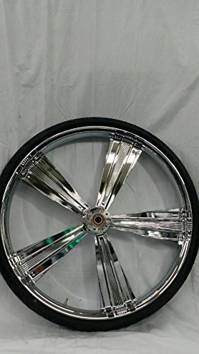 HARLEY DAVIDSON 30x4 CHROME PERFORMANCE MACHINE SHOCK WHEEL AND 30