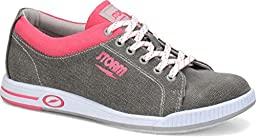 Storm Meadow Bowling Shoes, Grey/Pink, 8.0