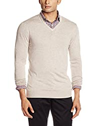 Celio Men's Synthetic Sweater (3596654271875_DEGIVREBEIGE_40_Beige)