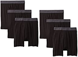 Hanes Ultimate X-Temp Boxer Briefs, Assorted Black, Small, 6-pack