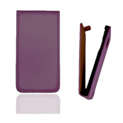 Flip Case Tasche Hülle Etui Handytasche SLIM in lila / violett für Samsung Galaxy Trend GT-S7560 / S Duos GT-S7562 / Plus GT-S7580 / S Duos 2 GT-S7582 inkl. World-of-Technik Touchpen