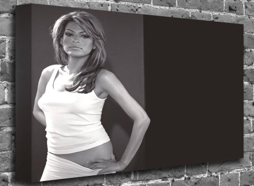 "Sale alerts for canvas101 Eva Mendes Celebrity Supermodel Canvas Art Canvas Print Picture print Size: (24"" x 16"") - Covvet"