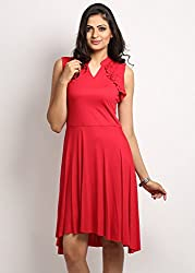 NO CODE FLARE RED DRESS