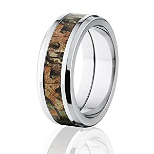RealTree Xtra Green OfficialCamo Rings, 8mm Wide, Camouflage Bands