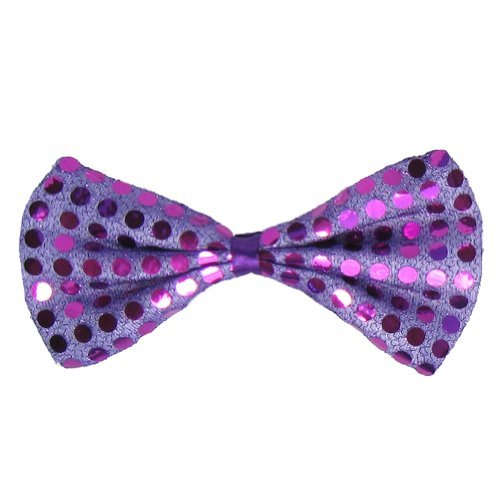 SeasonsTrading Purple Sequin Bow Tie ~ Fun Costume Party Accessory (STC12063)