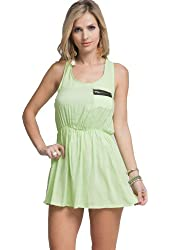G2 Chic Women's Solid Zip Pocket Tank Dress