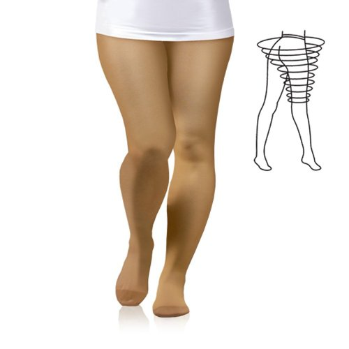 Plus Size 23-32 Mmhg Medical Grade Compression Pantyhose, Ccl2 Support Tights With Closed Toe Class Ii (X-Large) front-558494