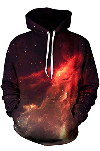 Vienna-E Unisex Cool Printed Pocket Drawstring Hoodies XL Pattern #27 (Cool Printed Hoodies compare prices)