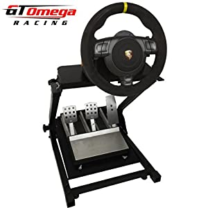gt omega steering racing wheel stand suitable for fanatec gt2 gt3 csr wheel and clubsport. Black Bedroom Furniture Sets. Home Design Ideas