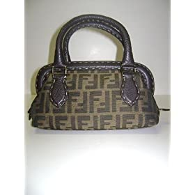 Fendi Handbags Small Zucca Boston 8BN122 - JQ9