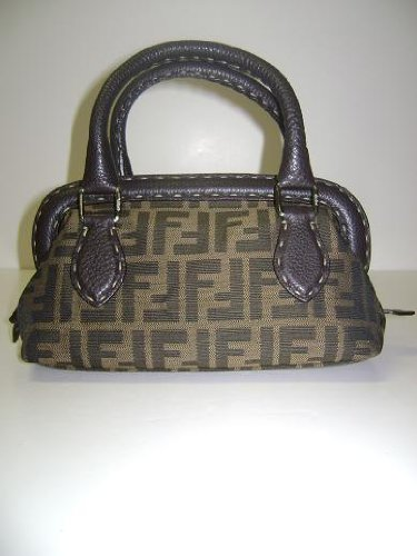 Fendi Handbags Small Zucca Boston 8BN122 – JQ9
