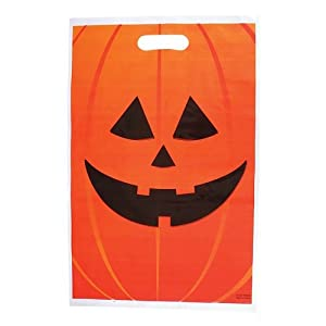Jack O Lantern Trick Or Treat Bags; 50 Pack