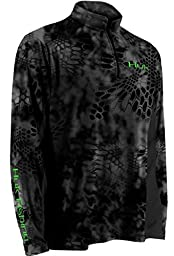 HUK Kryptek Icon 1/4 Zip, Typhon-Neon Green, Extra Large