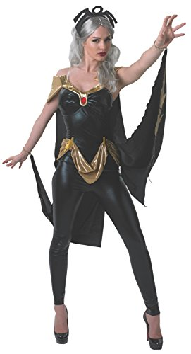 Secret Wishes Women's Marvel Universe Storm Costume Cat Suit and Mask