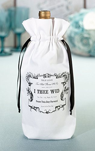 Lillian Rose True Love I Thee Wed Wine Bag