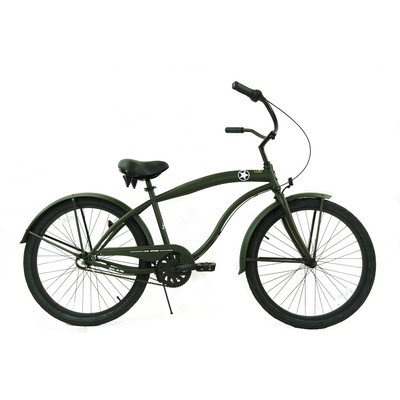 Men's 3-Speed Beach Cruiser Color: Army Green / Black